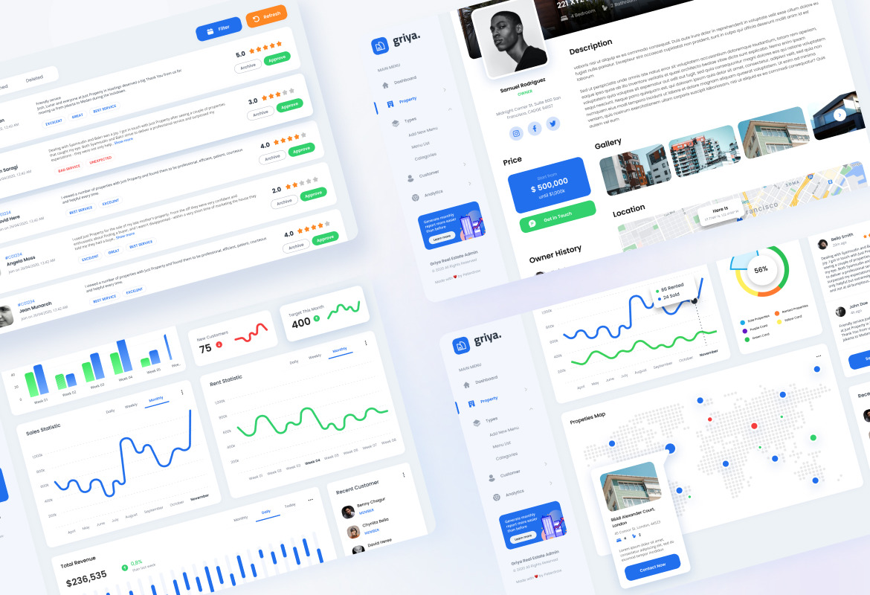 Griya - Real Estate Admin Dashboard UI Template