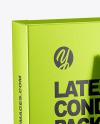 Matte Metallic Condom Packaging Mockup