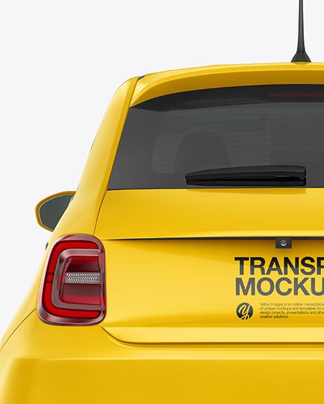 EV Compact Car Mockup - Back View
