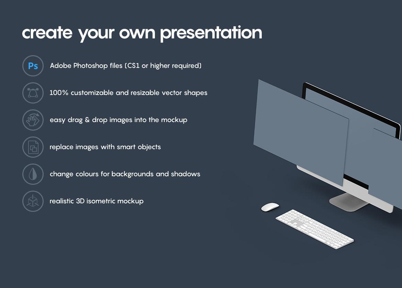 Isometric Website Mockup Presentation