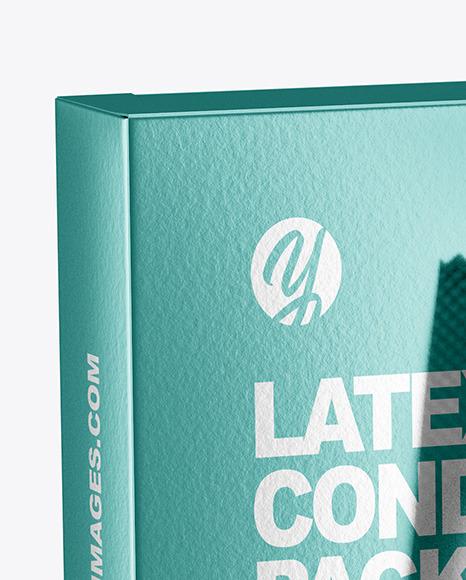 Glossy Metallic Condom Packaging Mockup