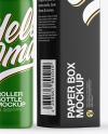 Matte Roller Bottle with Box Mockup
