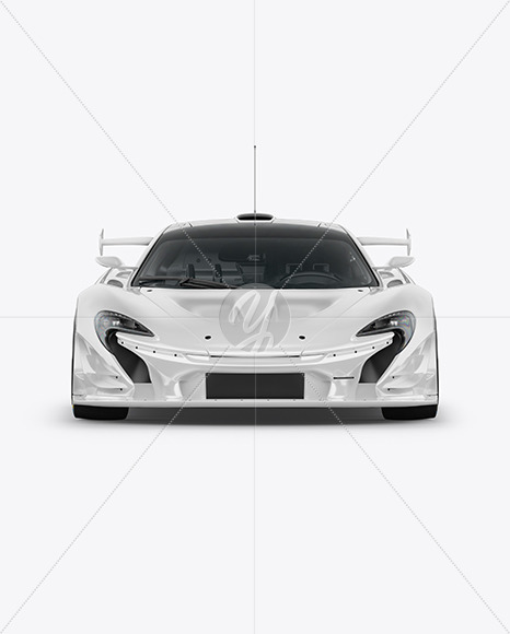 Download Sport Car Mockup Front View In Vehicle Mockups On Yellow Images Object Mockups PSD Mockup Templates