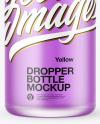 100ml Frosted Glass Dropper Bottle Mockup