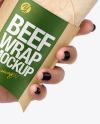 Hand w/ Beef Wrap Mockup