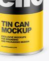 Tin Can w/ Matte Finish Mockup
