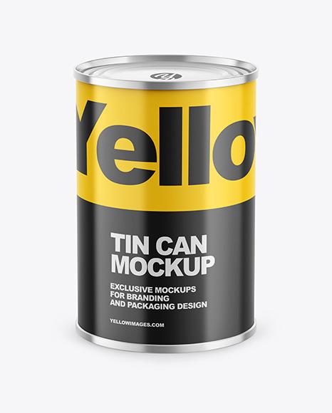 Tin Can w/ Glossy Finish Mockup