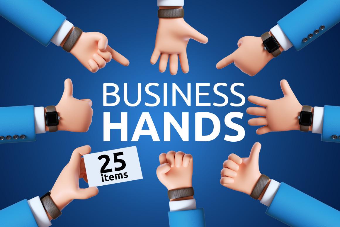 Business Cartoon Hands Set