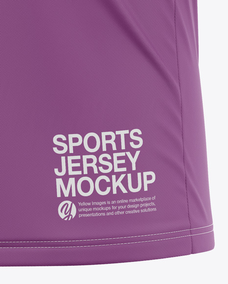 Men's V-Neck Sports Jersey Mockup - Front Half-Side View