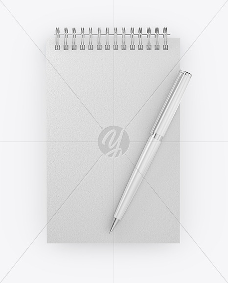 Notepad With Pen Mockup