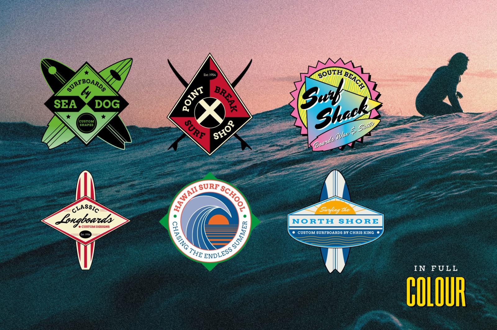 Vintage Surf Logo Templates