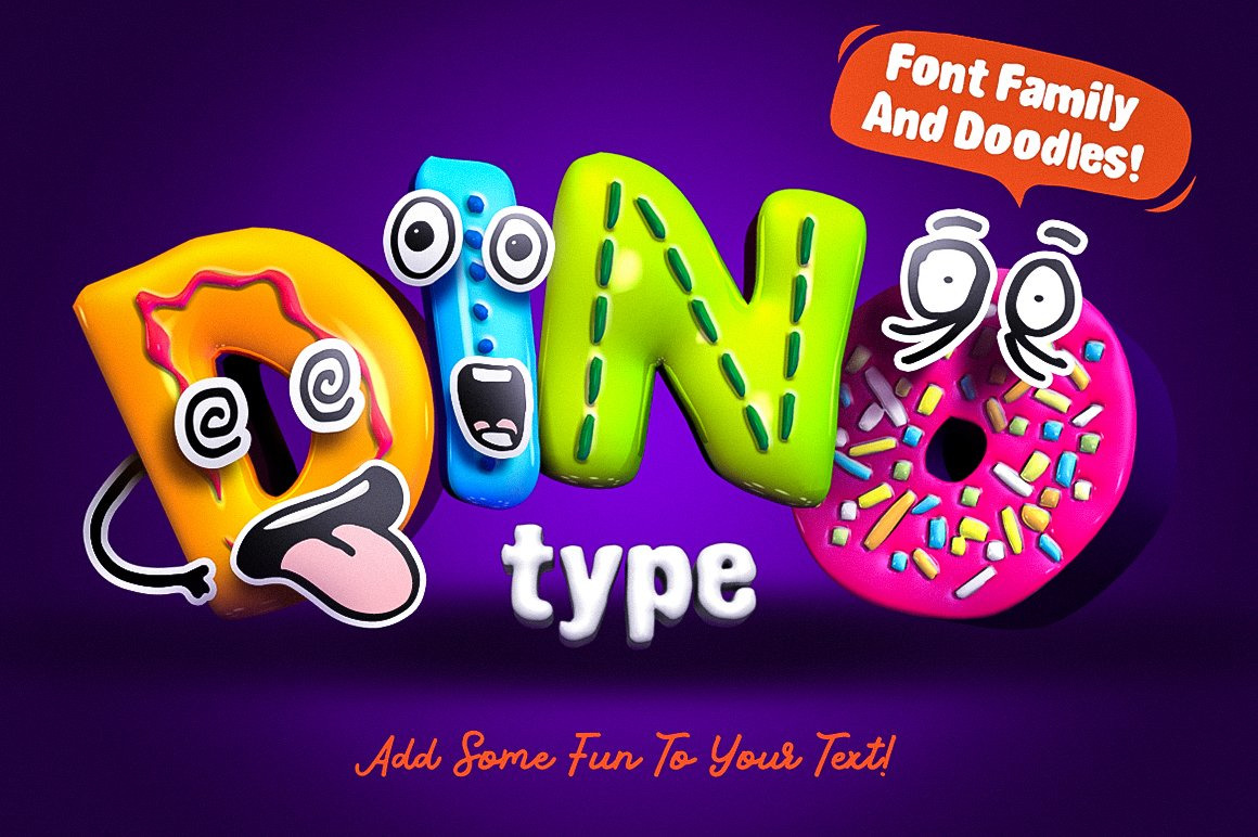 DinoType Educational Fun Fonts