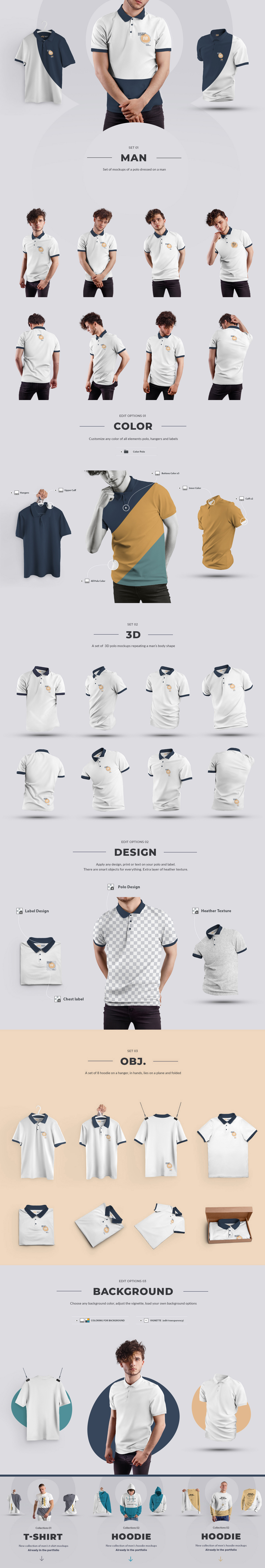 24 Polo Men Mockup - Man/3D/Objects ( Collection #4 )