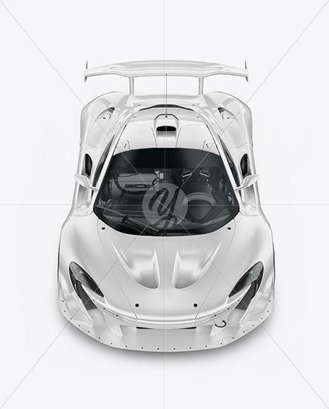 Sport Car Mockup - Front View (High Angle Shot) - Yellowimages Mockups