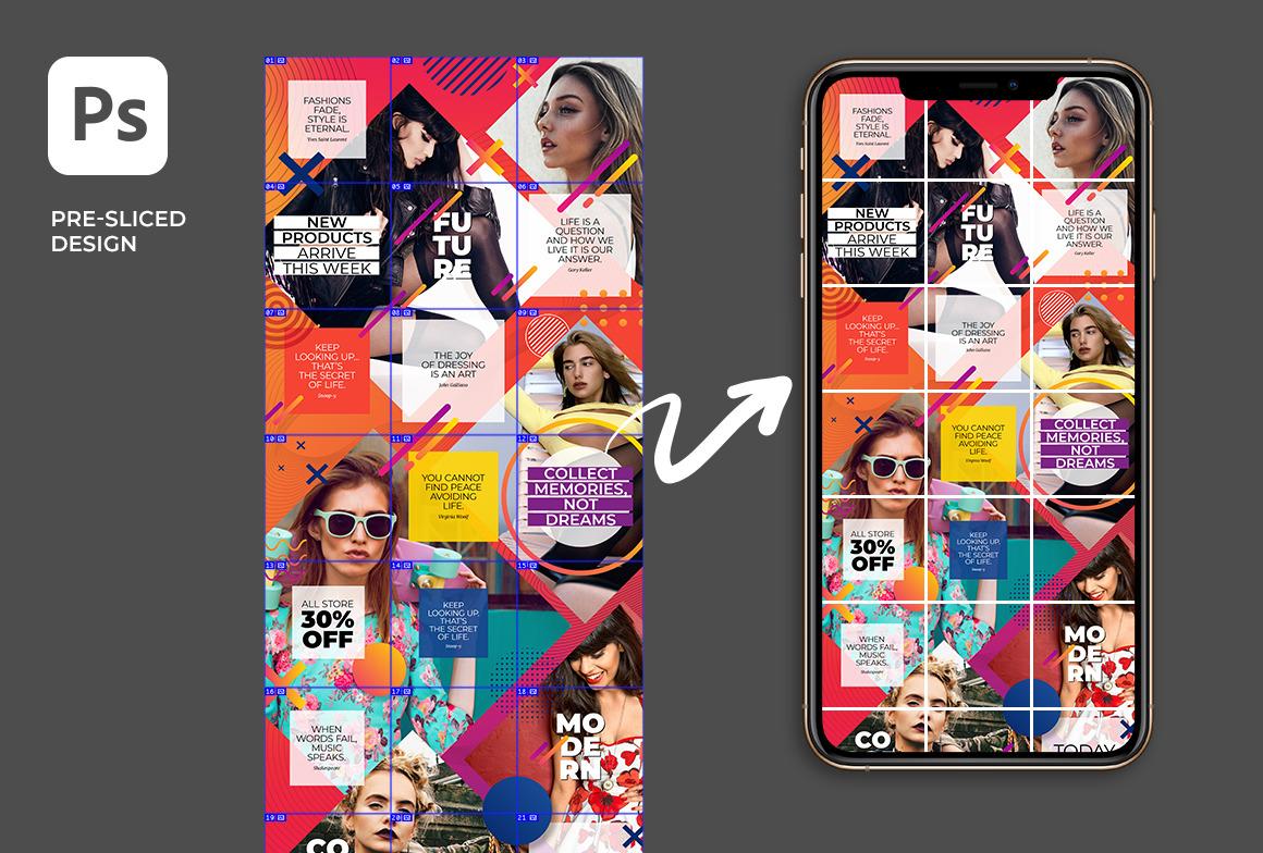 Color - Social Media Instagram Puzzle Feed