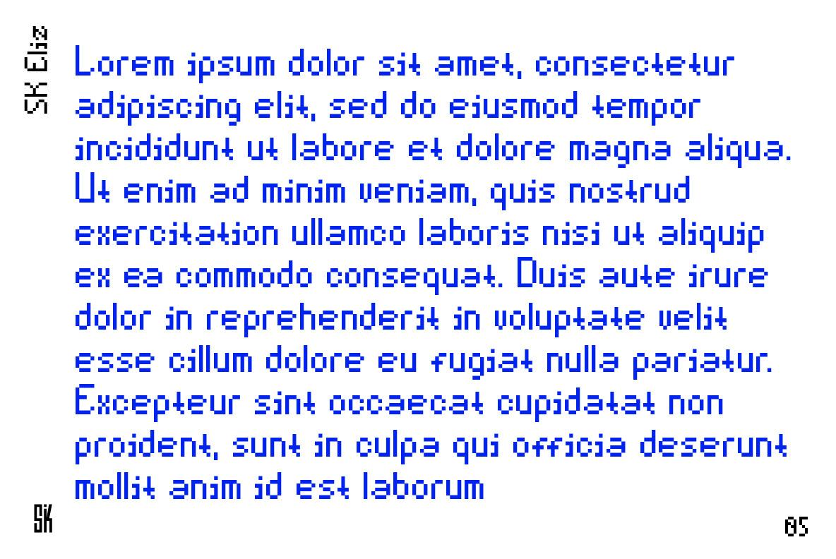 SK Eliz Typeface