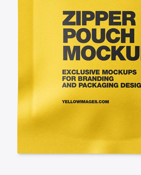 Paper Pouch W/ Zipper Mockup