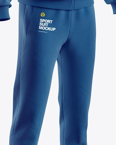 Men's Sport Suit Mockup - Half Side View