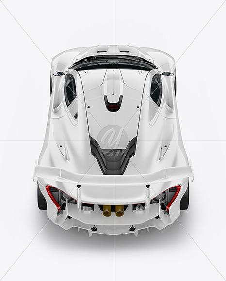 Sport Car Mockup - Back View (High Angle Shot) - Yellowimages Mockups