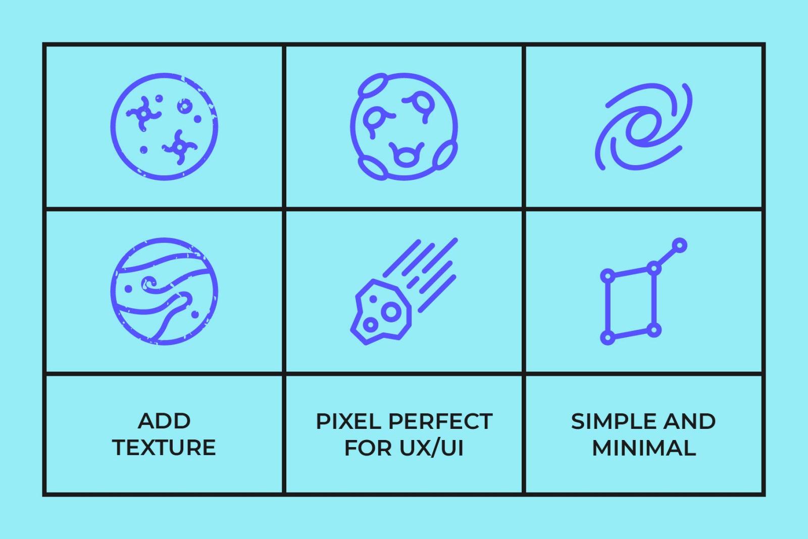 Universe Line Icons