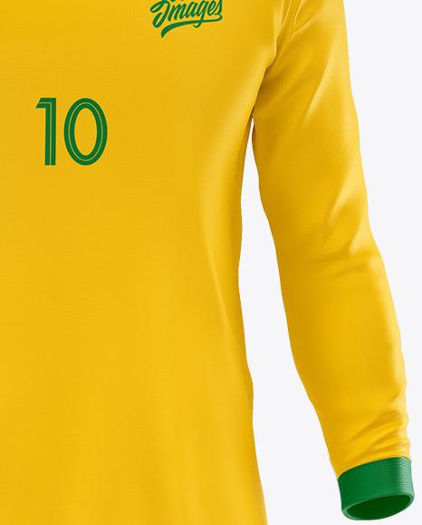 Football Kit Long Sleeve Mockup – Front View
