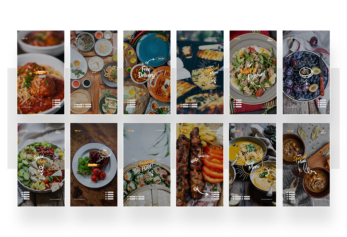 Restaurant Instagram Post and Story Template