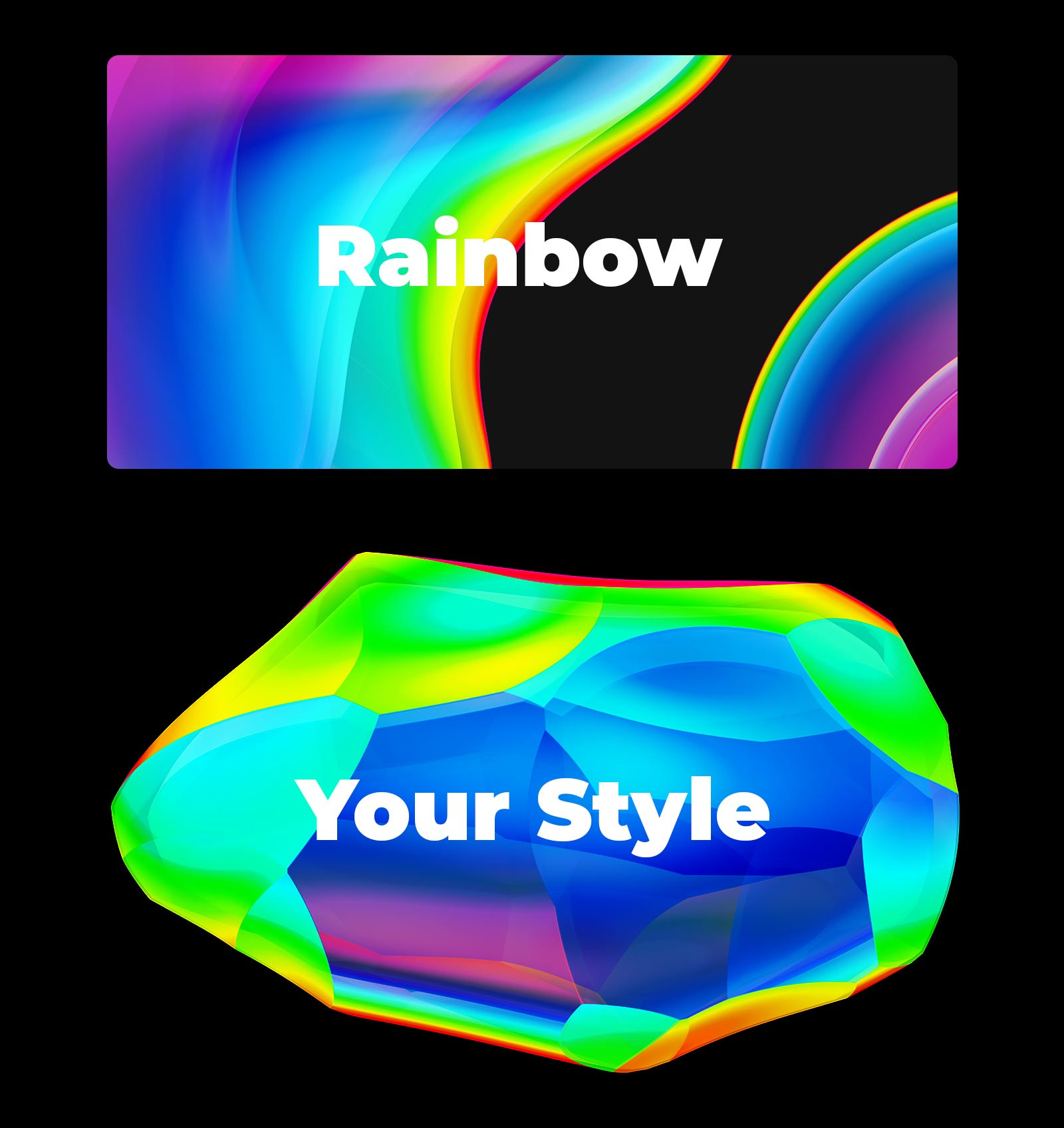 180 Objects in Rainbow Style #01