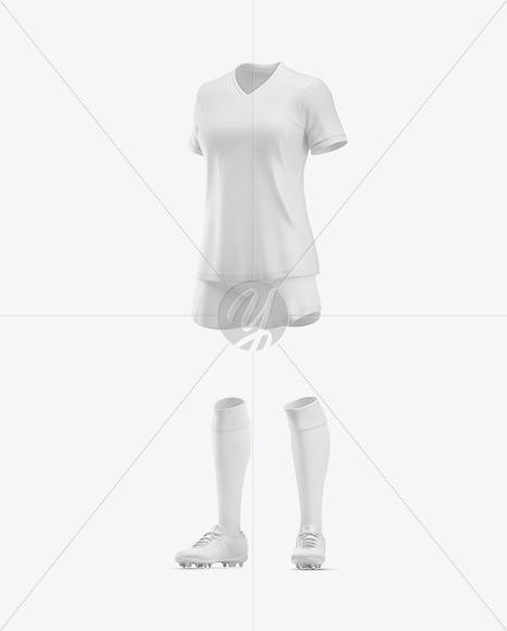 Women's Football Kit Mockup – Half Side View