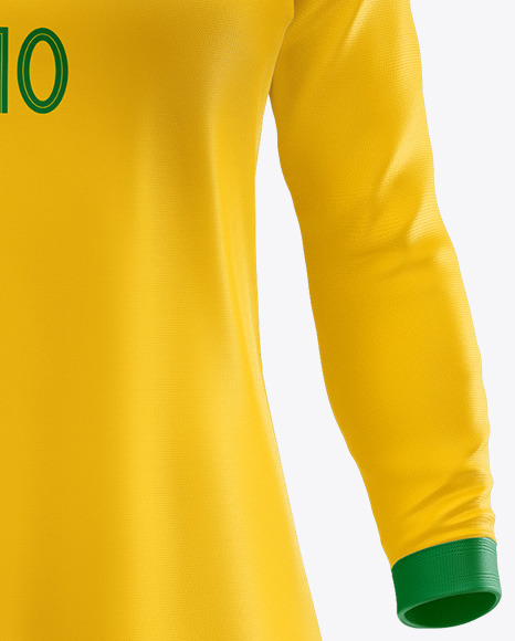 Women's Football kit Long Sleeve  Mockup - Front View