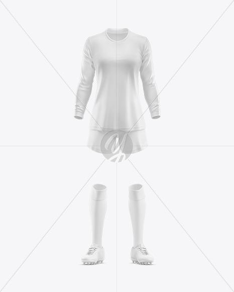 Women's Football kit Long Sleeve  Mockup - Front View