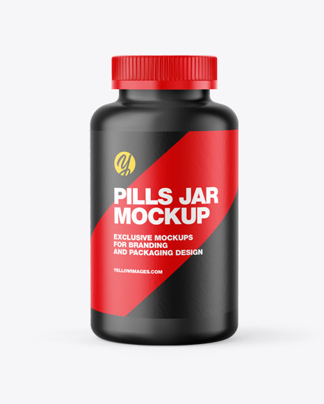Matte Pills Jar/Bottle Mockup