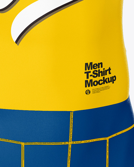 Compression Suit Mockup – Front Half Side View