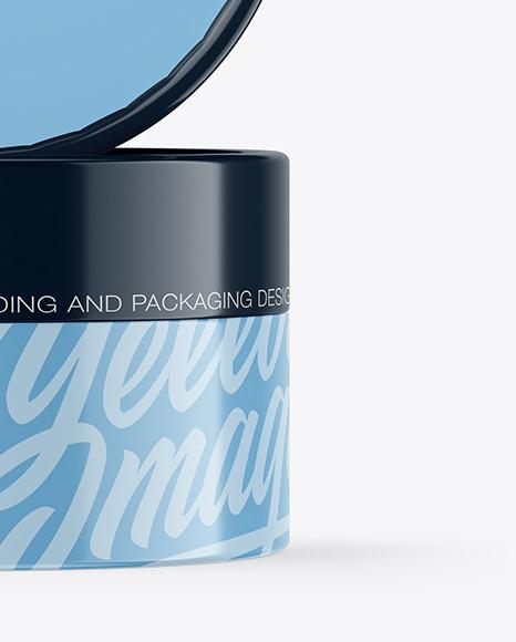 Two Glossy Cosmetic Jars Mockup