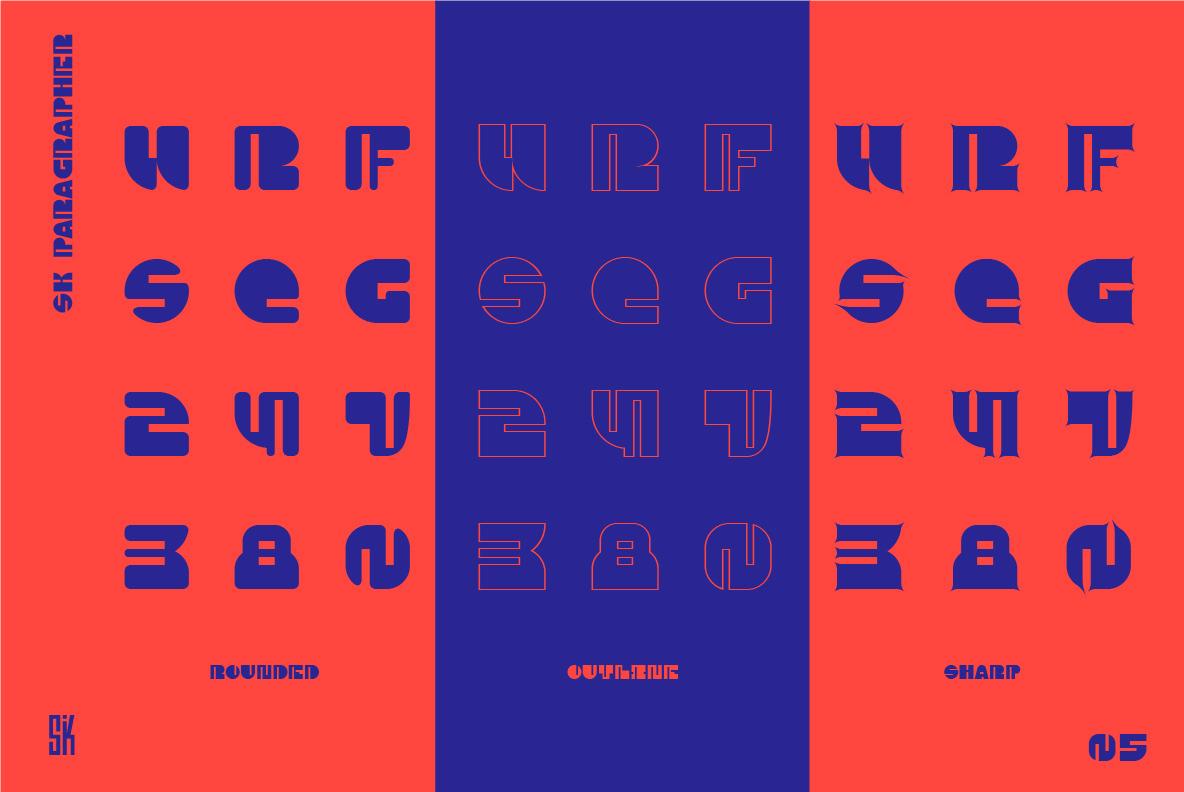 SK Paragrapher Typeface