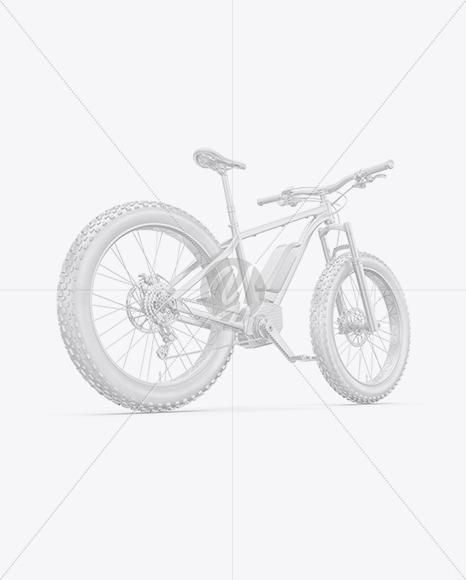 Fat Bike Mockup - Back Half Side View