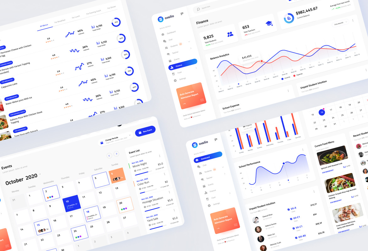 Owlio - School Admission Admin Template