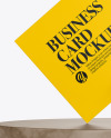 Matte Business Card with Pin & Marble Mockup