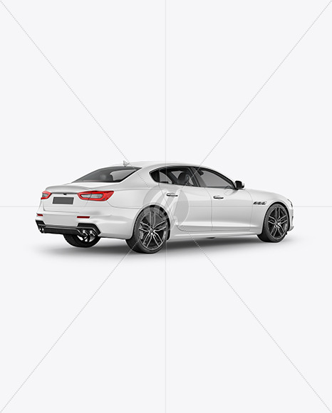 Luxury Sedan Mockup - Back Half Side View - Yellowimages Mockups