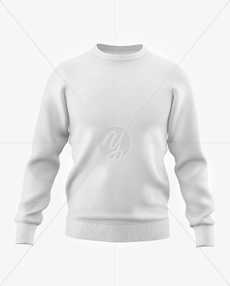 Men's Raglan Sweatshirt Mockup - Front View