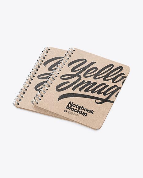 Kraft Notebooks Mockup