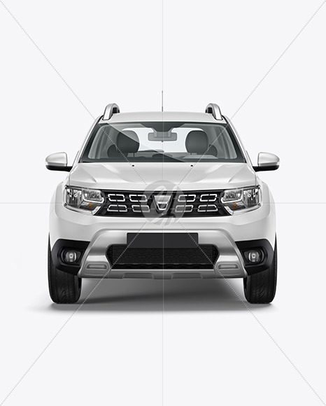 Compact Crossover SUV - Front View - Yellowimages Mockups