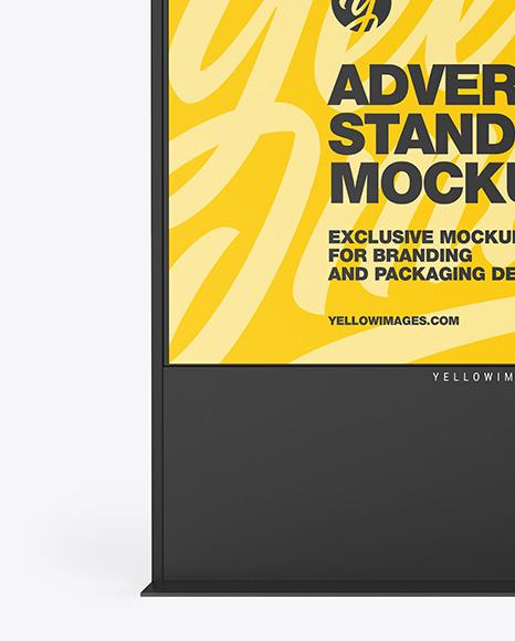 LED Display Stand Mockup