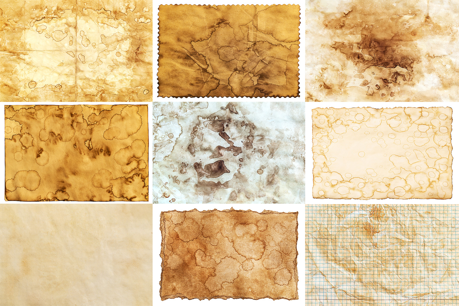Old paper textures, vintage paper backgrounds, antique paper collection