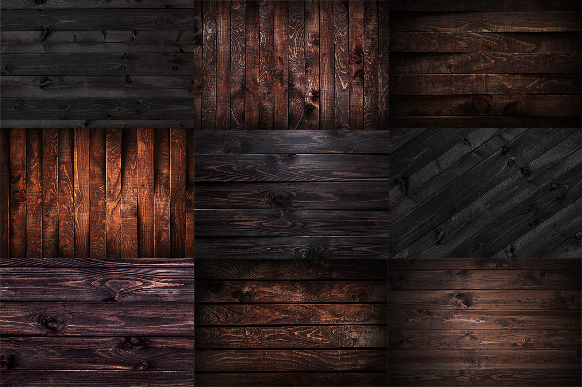 Beautiful wooden backgrounds collection