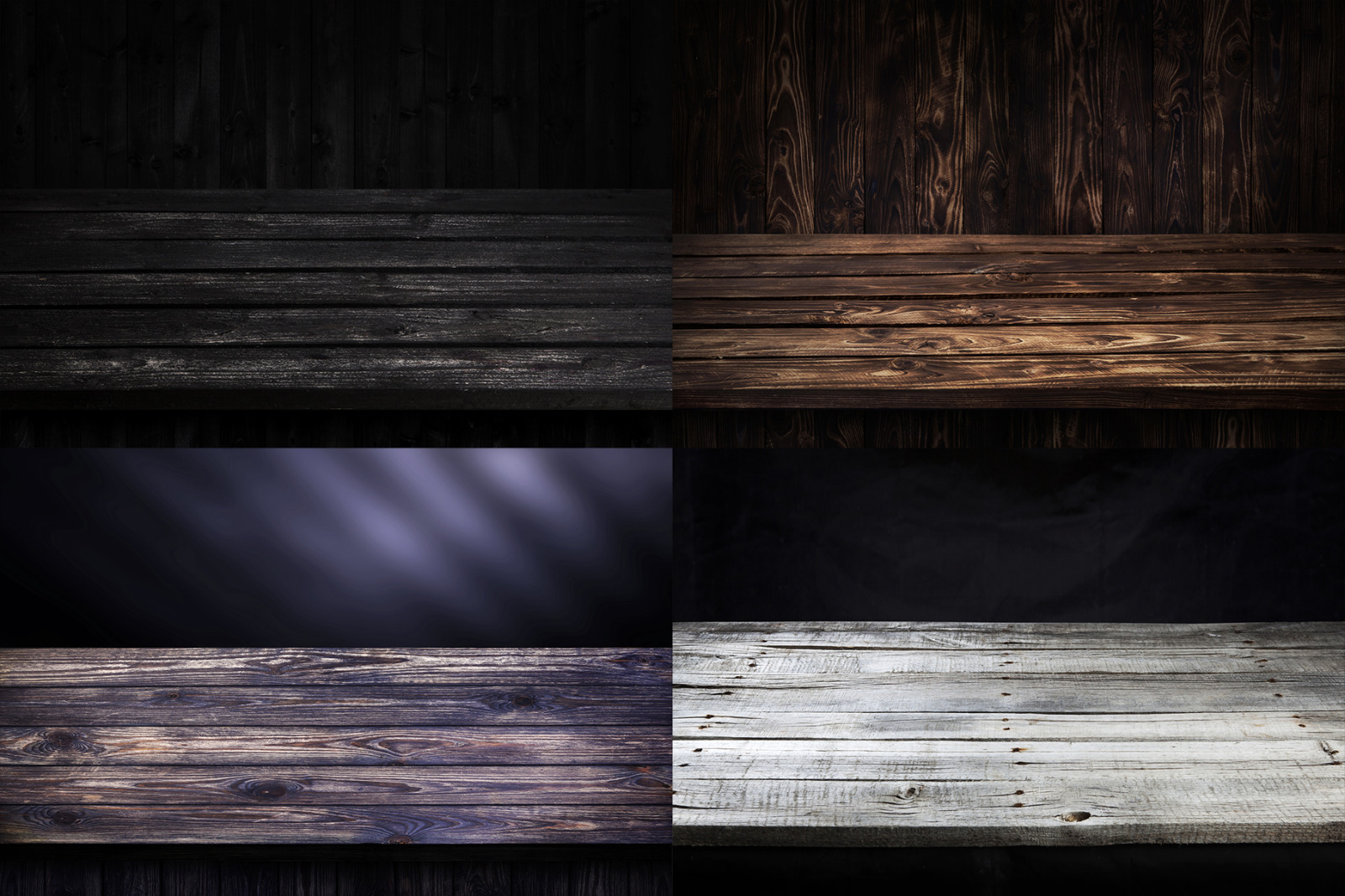 Perspective wooden backgrounds for your beautiful project presentation