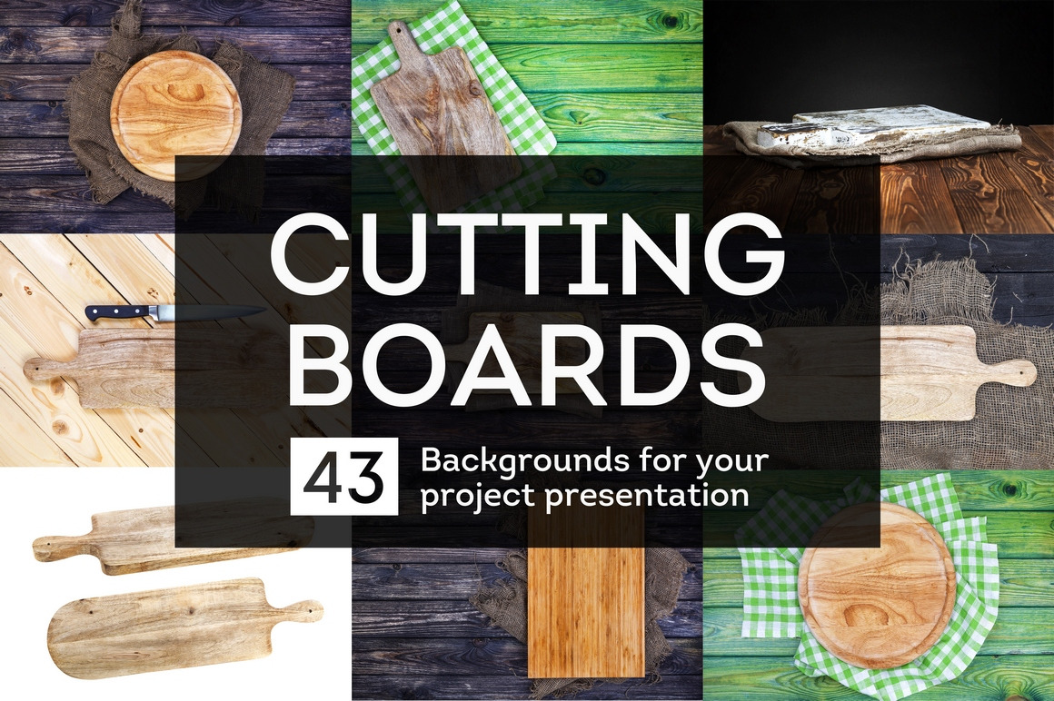 Cutting boards collection. Backgrounds for your project presentation