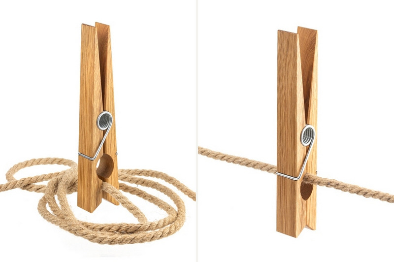 Clothes pin and rope collection