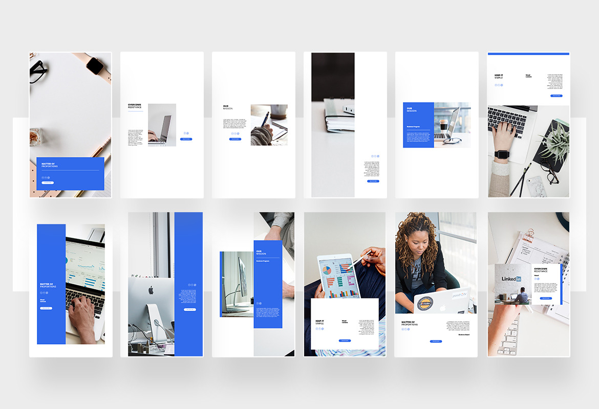 Elegant Business Instagram Post and Story Template
