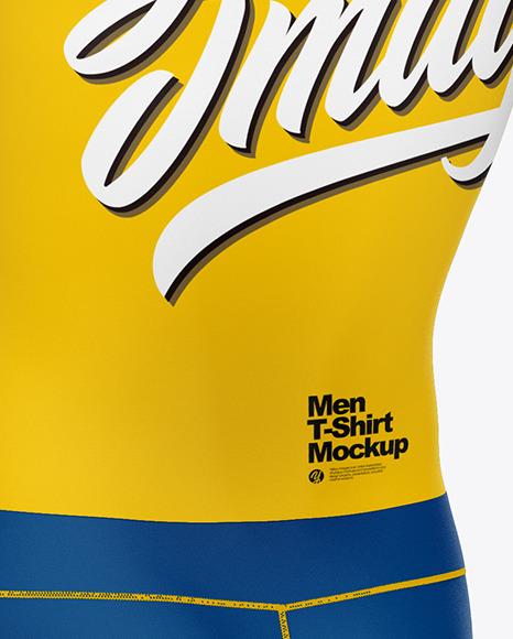 Men Compression Suit Mockup – Back Half Side View
