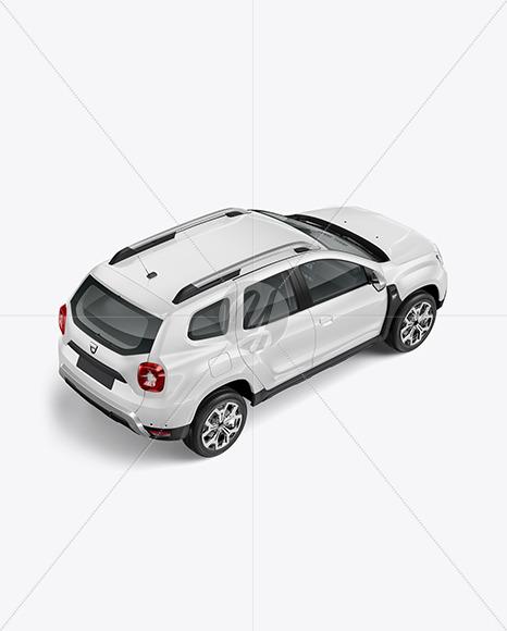 Compact Crossover SUV - Half Side View (High Angle Shot)